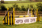 Jumps at the Hopton Horse Centre