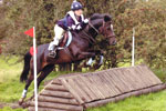 Georgina and Maisey - cross country jumping